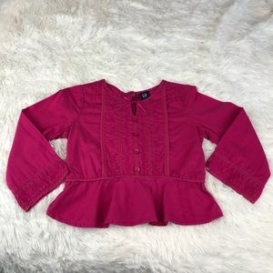 Baby Gap Pink Long Sleeve Blouse: 18-24 Months